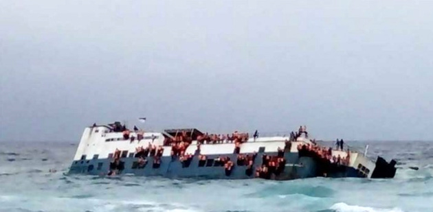 Dozens die after ferry sinks off Indonesia