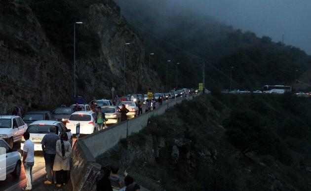 ترافیک سنگین شبانگاهی به جادههای مازندران رسید