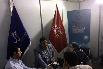 گزارش تصویری/ بازدید مشاور مدیرعامل قشم ایر از غرفه تیننیوز در نمایشگاه ایروپرشیا