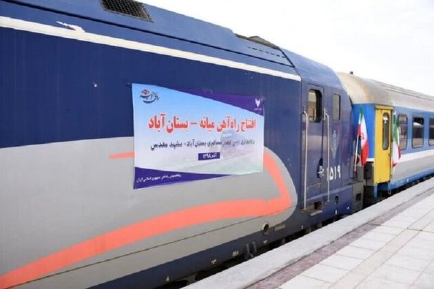 صرفهجویی ۱۶ میلیون لیتری سوخت با بهرهبرداری از راهآهن بستانآباد