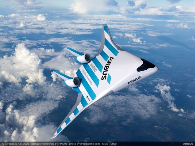 هواپیمایی با بالهای ادغام شده در بدنه و پنجرههای مجازی+عکس