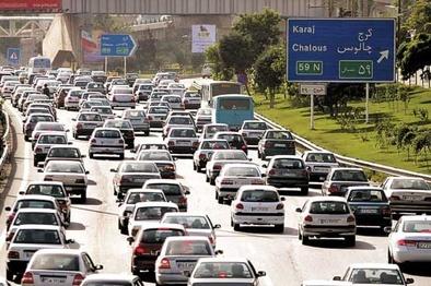 اجرای محدودیت ترافیکی در محور کرج - چالوس