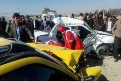کشته شدن چهار نفر در اثر سانحه رانندگی در سرپل ذهاب