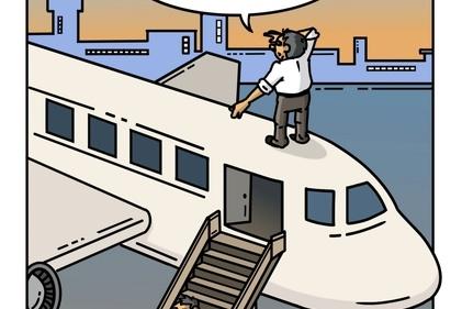 کاریکاتور/کاهش سفرهای هوایی در پی افزایش قیمت بلیط