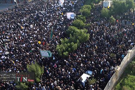 مراسم تشییع پیکر سردار سپهبد شهید حاج قاسم سلیمانی در اهواز