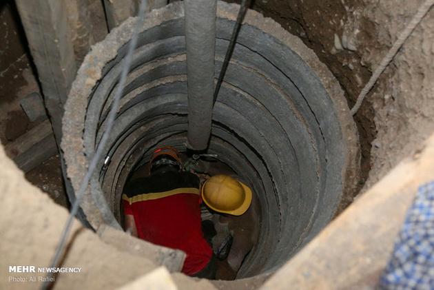 ریزش چاه در کارگاه مترو