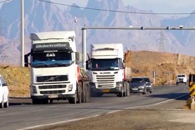 تردد کامیونها در محور قصرشیرین ممنوع شد