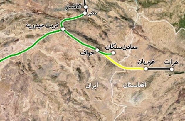 پایان آبان، موعد بهرهبرداری از راه آهن خواف-هرات