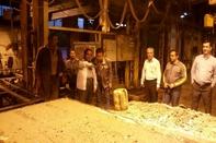 بازدید سرزده مدیرعامل تراورس از سیفت شب کارخانه تولید تراورس بتنی کرج