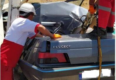 ۲ کشته و یک مصدوم در حادثه امروز جاده شیراز به یزد