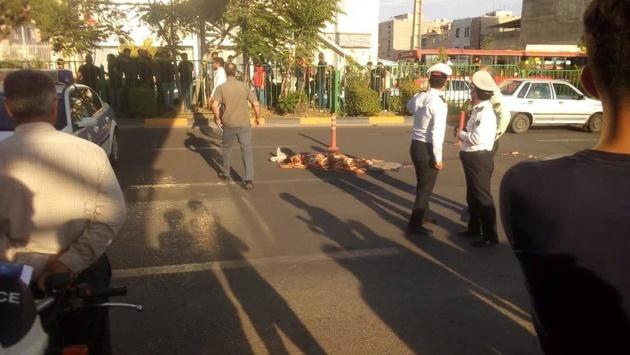 مرگ دختر جوان به خاطر سقوط از پل عابر پیاده دانشگاه