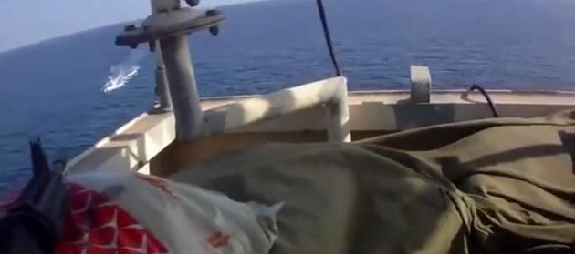 فیلم| واکنش نیروهای امنیتی به تعرض به یک کشتی
