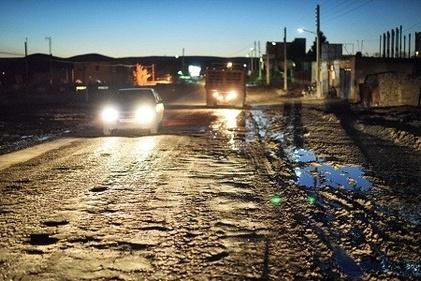 گزارش تصویری / نابسامانی جاده های بین شهری در منطقه جرگلان خراسان شمالی