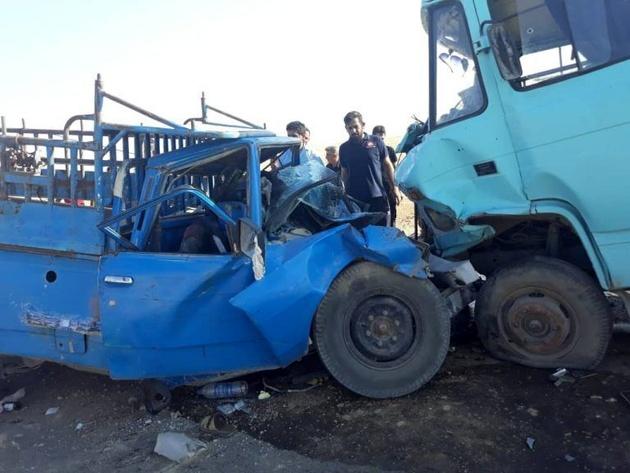 راننده نیسان در تصادف مسیر نور به چمستان کشته شد