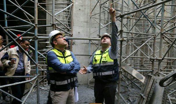 پیشرفت 98 درصدی بخش سیویل و ساختمانی ایستگاه میدان امام حسین(ع)