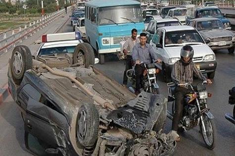همدان رتبه دار واژگونی خودرو