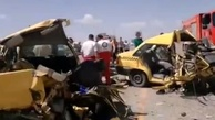 تصادف شدید تاکسی پلاک «ت» در مسیر برونشهری+ تصاویر