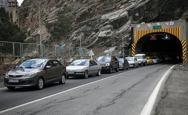 اعمال محدودیتهای ترافیکی در جاده کرج - چالوس