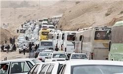 ترافیک نیمهسنگین در محورهای صالحآباد-مرز مهران و خرمشهر-شلمچه/محدودیتهای ترافیکی اربعین