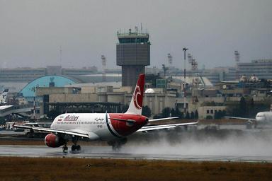 فرود اضطراری هواپیمای مشهد - کاشان در فرودگاه مهرآباد