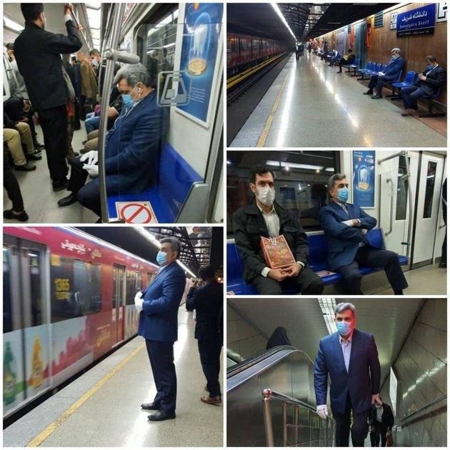 """شهردار تهران با مترو به """"بهشت"""" رفت"""