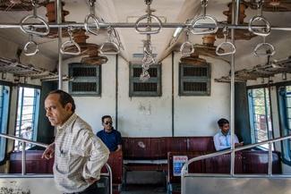 عکس/ مسافران در قطار دهلی نو