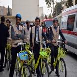 هم رکابی نمادین مدیران حملونقل شهری در پایان همایش روز ملی حملونقل