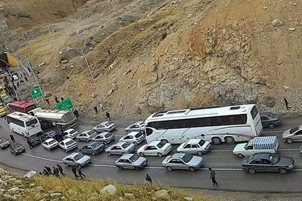 جدول وضعیت ترافیک لحظهای راههای اصلی و فرعی استان تهران -۲
