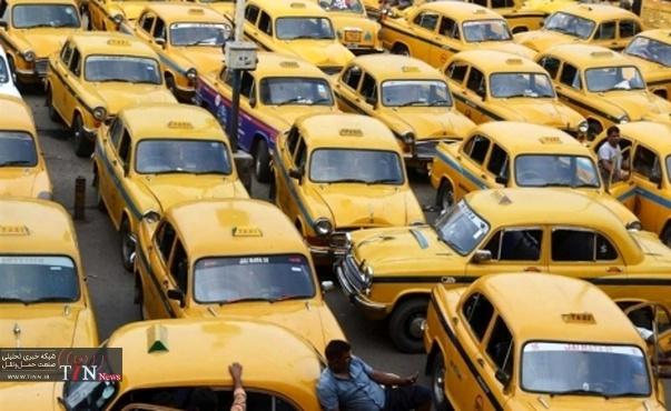 اعتصاب رانندگان تاکسی در هند + عکس