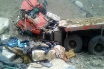 شیب پرحادثه نزدیک حاجی آباد در جاده  سیرجان به بندرعباس