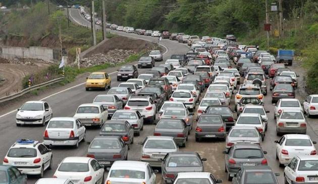 ترافیک سنگین در جاده های مازندران در دور دوم سفرهای نوروزی