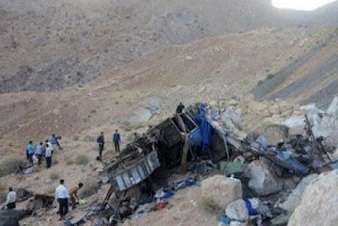 عوامل سقوط اتوبوس مسافربری حامل سربازان مشخص شد
