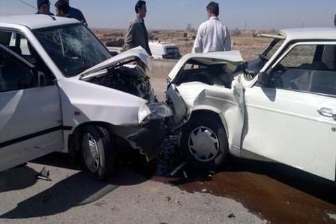 """برخورد مرگبار سه خودرو در محور"""" اقلید - یاسوج"""""""