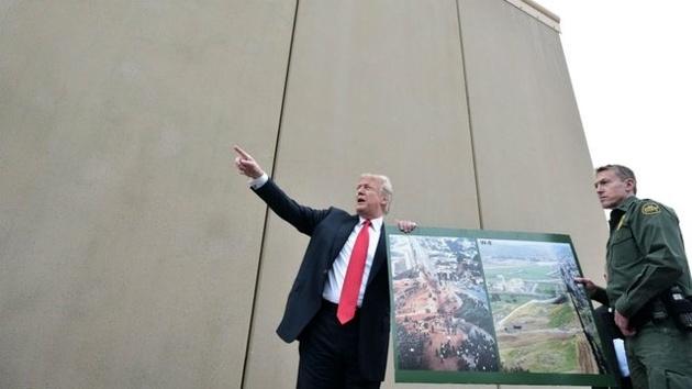 ساخت بخشی از دیوار جنجالی آمریکا-مکزیک