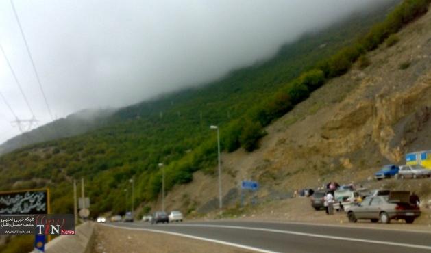اعمال محدودیت ترافیکی در محور رشت  قزوین