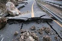 رانش زمین  در جاده کیاسر مازندران