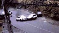 فیلم|  گازوئیل ریختن در جاده چالوس ادامه دارد؟