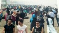تصاویر امیدبخش از ساحل بابلسر که ترس از کرونا را کم میکند