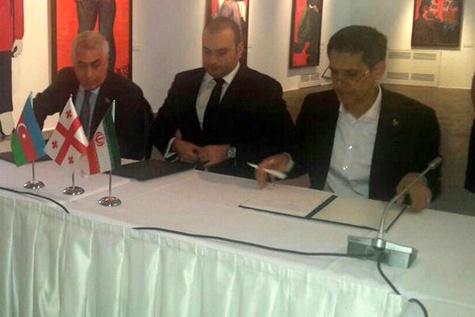 امضای توافقنامه 3جانبه راهگذر خلیج فارس- دریای سیاه
