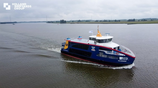 Holland Shipyards Group delivers 1st new hybrid ferry to Germany's SFK