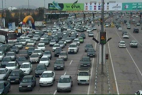 حجم ترافیک در جاده های زنجان سنگین است