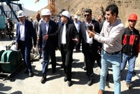 گزارش تصویری / بازدید جهانگیری و آخوندی از قطعه یک آزادراه تهران - شمال