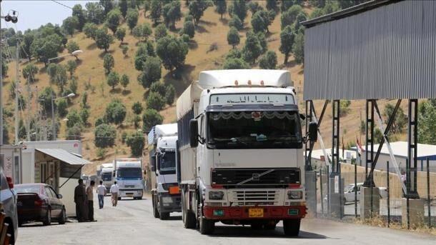 ۵۰۸ میلیون دلار کالا از مرز مهران به عراق صادر شد