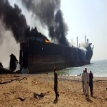 Seven injured after ship catches fire in Gadani shipbreaking yard