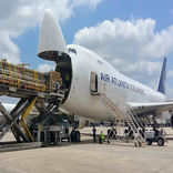 Houston, we have a solution. Piped spooling flown to US on B747-400F cargo charter