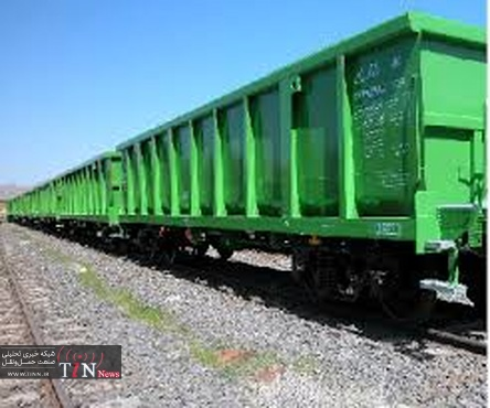 ۳۰ دستگاه واگن باری لبه بلند شش محوره تولید واگن پارس اراک تحویل شد