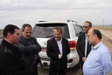 بازدید از محور در حال احداث کلور- درام در استان اردبیل