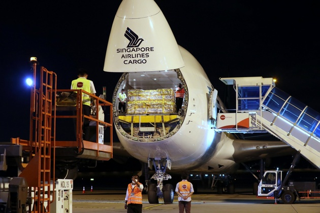 Singapore Airlines delivers first shipment of Covid-19 vaccines from Brussels to Singapore