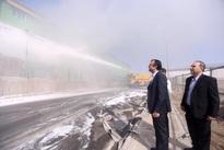 آتشسوزی هواپیمایی اسقاطی ماهان در فرودگاه امام