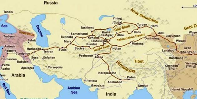 مقایسه مسیر ترانزیتی استانبول-شیان و ایران-چین